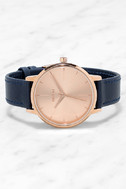 Nixon Kensington Leather Rose Gold and Navy Watch 3