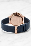 Nixon Kensington Leather Rose Gold and Navy Watch 4