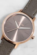 Nixon Kensington Leather Rose Gold and Taupe Watch 1