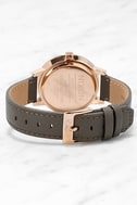 Nixon Kensington Leather Rose Gold and Taupe Watch 4