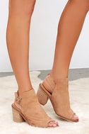 Chinese Laundry Caleb Natural Suede Leather Ankle Booties 2