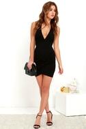 Cocktail Hour Black Wrap Dress 2