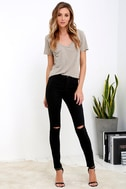 Practice Makes Perfect Black High-Waisted Skinny Jeans 1