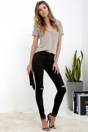 Practice Makes Perfect Black High-Waisted Skinny Jeans 3