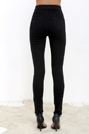 Practice Makes Perfect Black High-Waisted Skinny Jeans 6