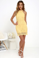 Love Poem Yellow Lace Dress 2