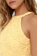 Love Poem Yellow Lace Dress 5