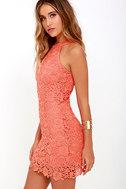 Love Poem Coral Orange Lace Dress 3