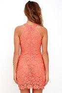 Love Poem Coral Orange Lace Dress 4