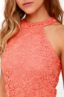 Love Poem Coral Orange Lace Dress 5