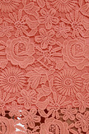 Love Poem Coral Orange Lace Dress 6
