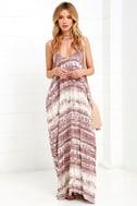 Yours Tule Mauve Tie-Dye Maxi Dress 2