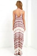 Yours Tule Mauve Tie-Dye Maxi Dress 4