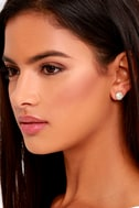 Astronautics Gold Rhinestone Earrings 2