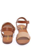 Hearts and Hashtags Natural Flat Sandals 3