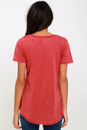 Z Supply Pleasant Surprise Washed Red Tee 4