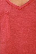 Z Supply Pleasant Surprise Washed Red Tee 6