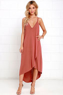 Mood and Melody Washed Red High-Low Dress 1