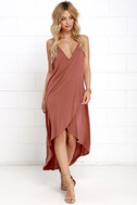Mood and Melody Washed Red High-Low Dress 2