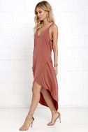 Mood and Melody Washed Red High-Low Dress 3