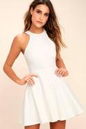 Delightful Surprise Ivory Skater Dress 3