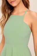 Call to Charms Sage Green Skater Dress 6
