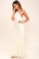 Zenith Cream Lace Maxi Dress 4