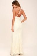Zenith Cream Lace Maxi Dress 5