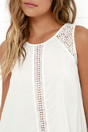 Anything is Possible Ivory Lace Top 5