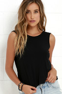 Tango Twist Black Sleeveless Top 3