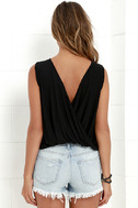 Tango Twist Black Sleeveless Top 4