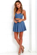 Accompany Me Blue Chambray Two-Piece Dress 3