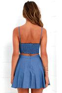 Accompany Me Blue Chambray Two-Piece Dress 4
