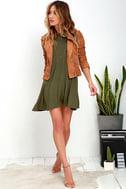 Tupelo Honey Olive Green Dress 2