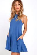 Tupelo Honey Blue Dress 3