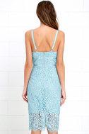 Stunning Light Blue Dress Lace Dress Midi Dress
