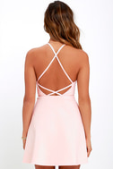 Light Pink Dress A Line Dress Fit And Flare Dress