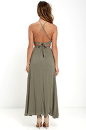 Walking on Heir Olive Green Two-Piece Dress 3