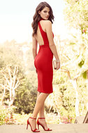 Outstanding Features Red Midi Dress 3
