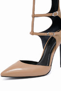 Kendall + Kylie Alisha Light Natural Leather Pointed Pumps 6