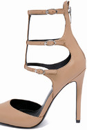 Kendall + Kylie Alisha Light Natural Leather Pointed Pumps 7