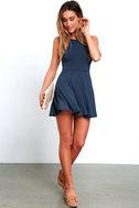 Tied Together Denim Blue Lace-Up Dress 2