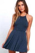 Tied Together Denim Blue Lace-Up Dress 3