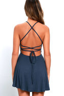 Tied Together Denim Blue Lace-Up Dress 4