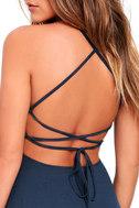 Tied Together Denim Blue Lace-Up Dress 5