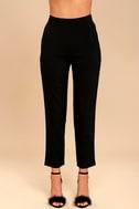 Kick It Black Trouser Pants 3