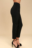 Kick It Black Trouser Pants 4