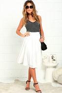 Dance Montage Ivory Midi Skirt 2