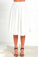 Dance Montage Ivory Midi Skirt 3