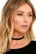 Love Connection Black Suede Choker 1